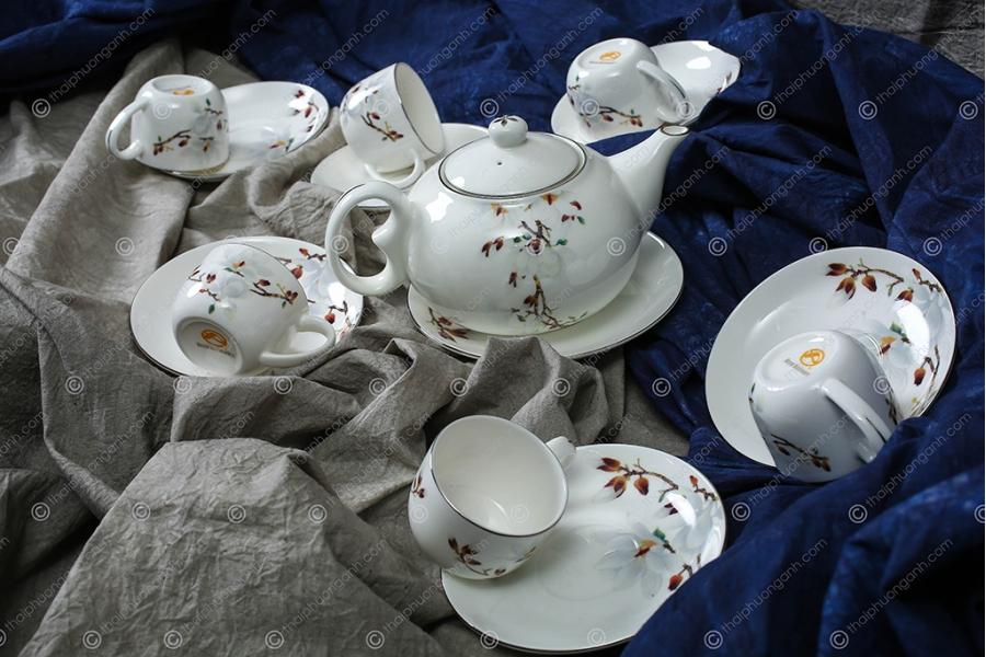 Bộ tách trà Sứ Xương 14 món 141407